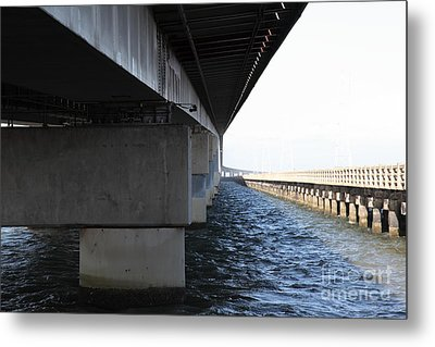 San Mateo Bridge In The California Bay Area 5d21908 Metal Print by Wingsdomain Art and Photography