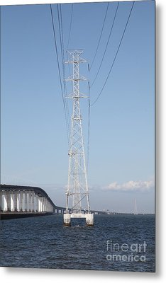 San Mateo Bridge In The California Bay Area 5d21909 Metal Print by Wingsdomain Art and Photography