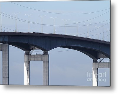 San Mateo Bridge In The California Bay Area 7d21910 Metal Print by Wingsdomain Art and Photography