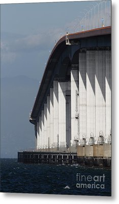 San Mateo Bridge In The California Bay Area 7d21935 Metal Print by Wingsdomain Art and Photography