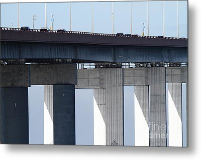 San Mateo Bridge In The California Bay Area 7d21947 Metal Print by Wingsdomain Art and Photography