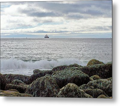 Metal Print featuring the photograph Sand Beach Acadia by Gene Cyr