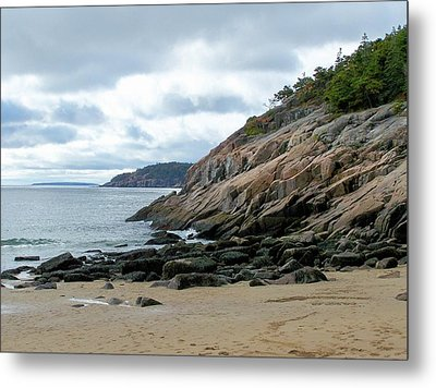 Metal Print featuring the photograph Sand Beach by Gene Cyr