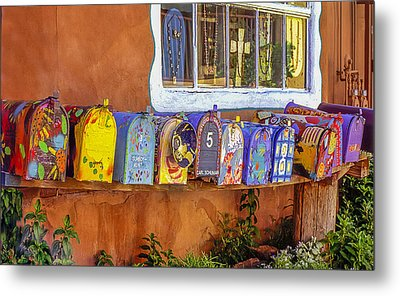 Santa Fe Mailboxes 2 Metal Print by Wendell Thompson