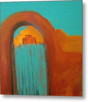 Metal Print featuring the painting Sante Fe by Keith Thue