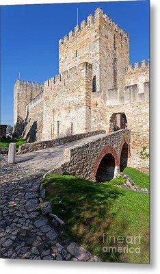 Sao Jorge Castle In Lisbon Metal Print