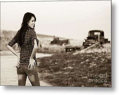 Sarah_6 Metal Print by Ivete Basso Photography