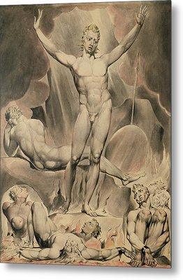Satan Arousing The Rebel Angels, 1808 Metal Print by William Blake
