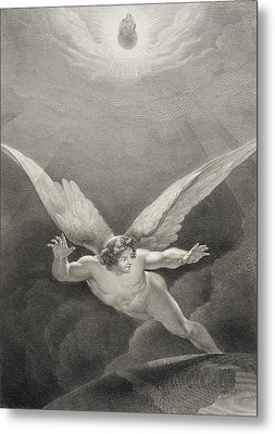 Satan Leaps Over The Walls Of Heaven Metal Print