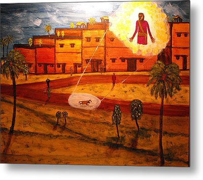 Saul On The Damascus Road Metal Print
