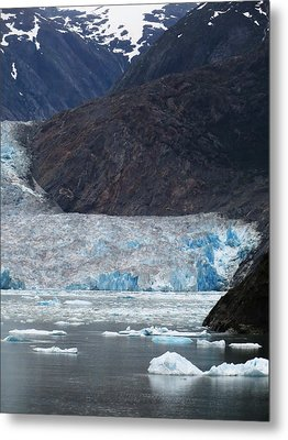 Metal Print featuring the photograph Sawyer Glacier Blue Ice by Jennifer Wheatley Wolf
