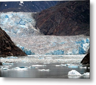 Metal Print featuring the photograph Sawyer Glacier by Jennifer Wheatley Wolf