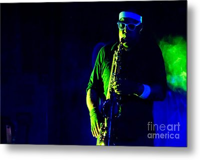 Saxophone Metal Print by Jill Hyland