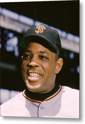 Say Hey Willie Mays Metal Print