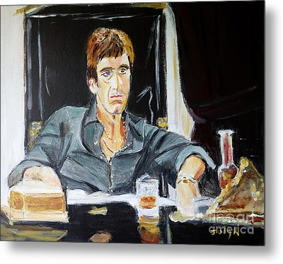 Metal Print featuring the painting Scarface by Judy Kay