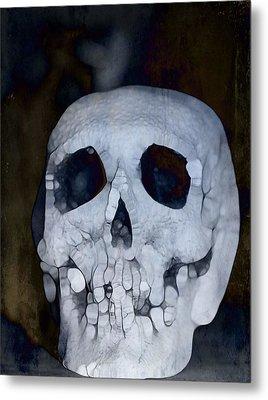 Scary Skull Metal Print by Dan Sproul