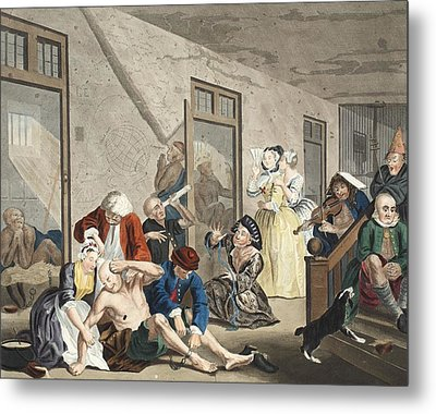 Scene In Bedlam, Plate Viii, From A Metal Print by William Hogarth