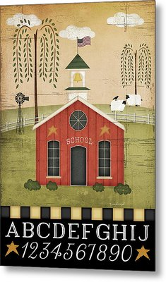School Metal Print by Jennifer Pugh