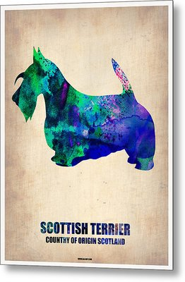 Scottish Terrier Poster Metal Print by Naxart Studio