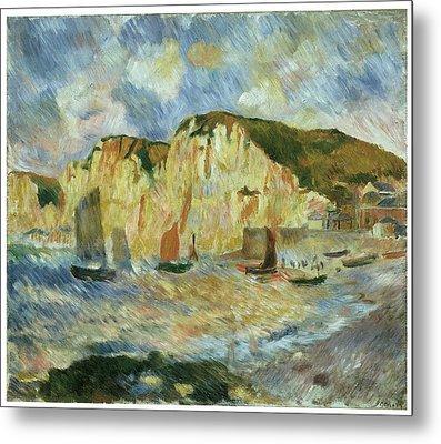Sea And Cliffs Metal Print by Pierre-Auguste Renoir