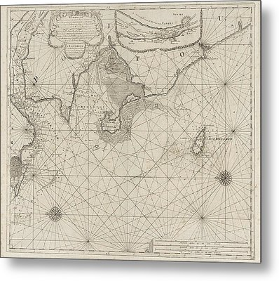 Sea Chart Of Part Of The Coast Of Brittany Metal Print