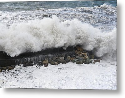 Sea Storm  Metal Print by Antonio Scarpi