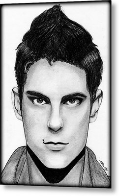 Sean Faris Metal Print by Saki Art