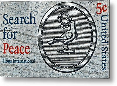 Search For Peace Metal Print by Bill Owen
