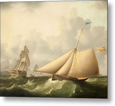 Seascape Metal Print by James E. Buttersworth