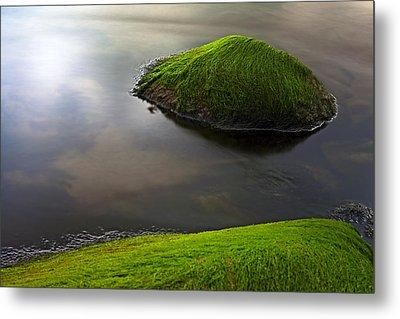 Seascape Seaweed On Rocks Metal Print by Dirk Ercken