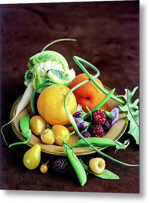 Seasonal Fruit And Vegetables Metal Print by Romulo Yanes