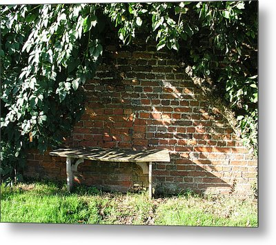 Metal Print featuring the photograph Seasoned Bench by Bev Conover