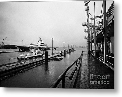 seaspan marine tugboat dock city of north Vancouver BC Canada Metal Print by Joe Fox