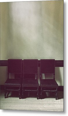 Seating For Three Metal Print by Margie Hurwich