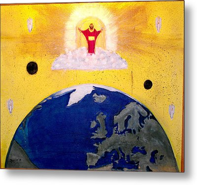 Second Coming Of Jesus Metal Print by Larry Farris