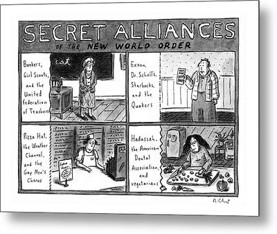 Secret Alliances Of The New World Order Metal Print