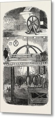 Section Of The Manufactory Metal Print by English School