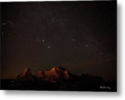 Sedona Milky Way Metal Print by Bill Cantey
