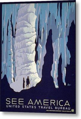 See American Caverns Metal Print by Alexander Dux