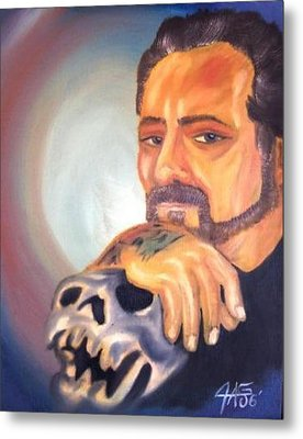 Metal Print featuring the painting Self Portrait 2006 by The GYPSY And DEBBIE