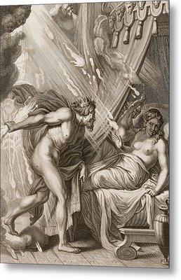 Semele Is Consumed By Jupiters Fire Metal Print