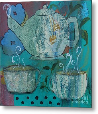 Serene Tea Metal Print by Robin Maria Pedrero
