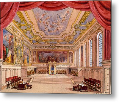 Set Design For The Merchant Of Venice Metal Print by English School