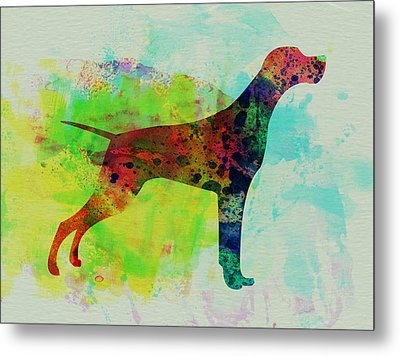 Setter Pointer Watercolor Metal Print by Naxart Studio