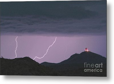 Seven Springs Lightning Strikes Metal Print