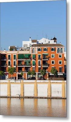 Seville House River View Metal Print by Artur Bogacki