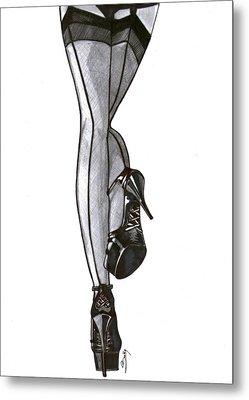 Sexy Legs Metal Print by Saki Art