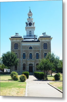 Shackelford County Courthouse Metal Print by The GYPSY And DEBBIE