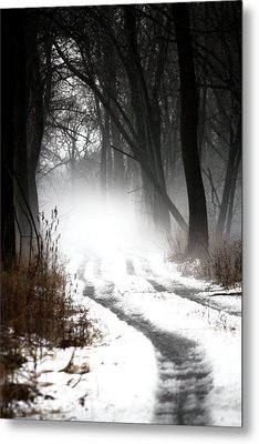 Shadows And Mist At Mentha Metal Print by Penny Hunt