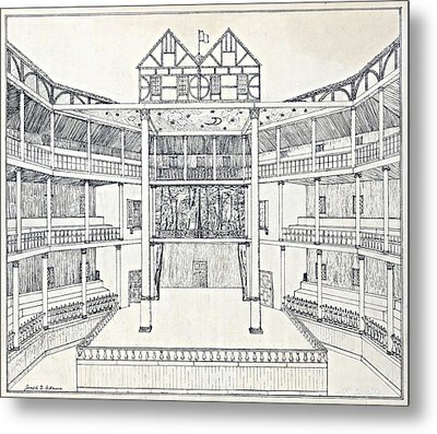 Shakespeares Globe Theatre Metal Print by Folger Shakespeare Library